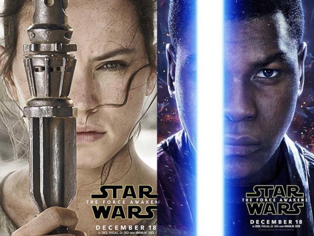 I poster di Rey e Finn di Star Wars Il Risveglio Della Forza