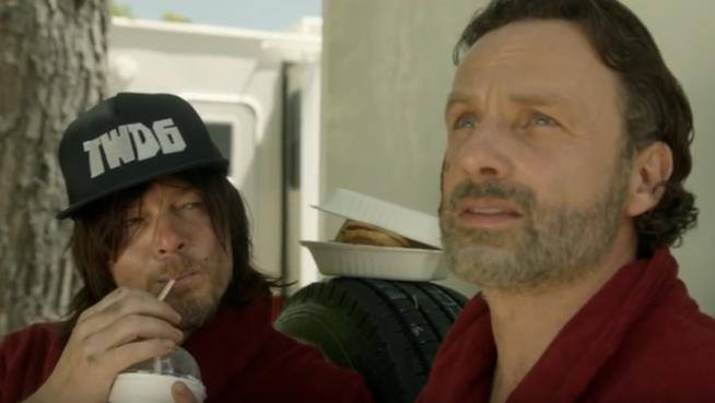 i protagonisti di The Walking Dead e la parodia di Star Wars Holiday Day
