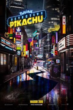 Detective Pikachu nel teaser poster del film Pokémon
