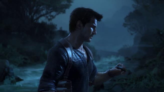 Nathan Drake in azione in Uncharted 4