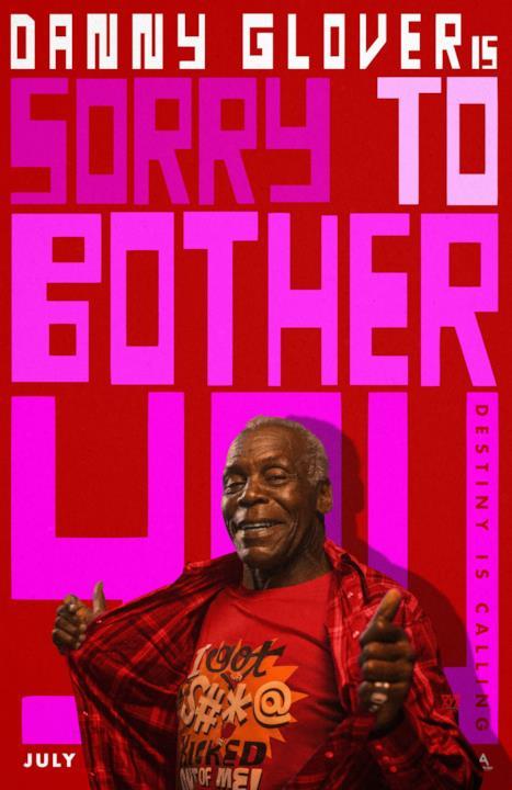Il poster promozionale di Sorry to Bother You dedicato a Danny Glover