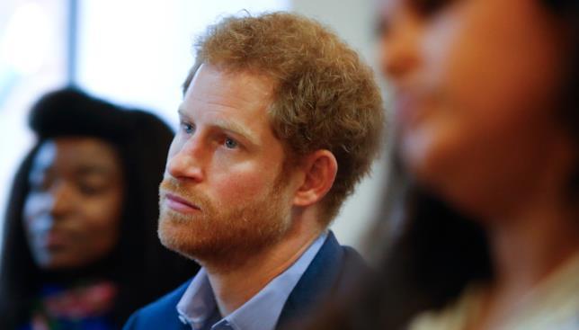 Primo piano del Principe Harry