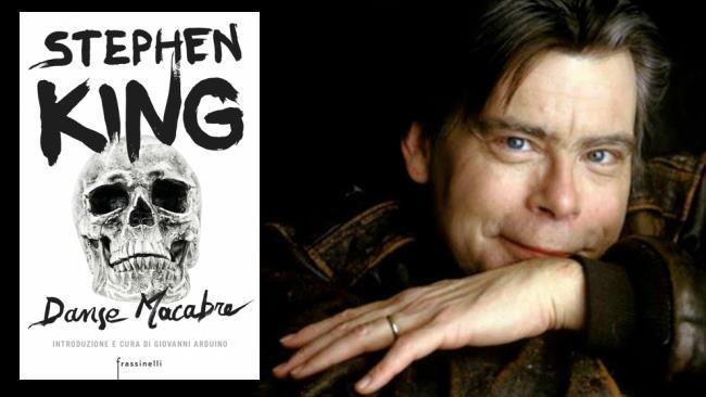 Stephen King assieme alla copertina di Danse Macabre