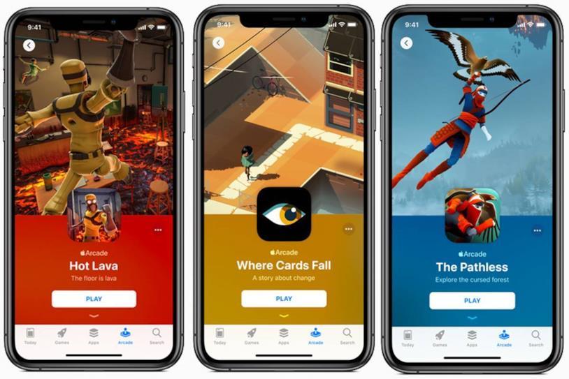 Le pagine di Hot Lava, Where Cards Fall e The Pathless su Apple Arcade