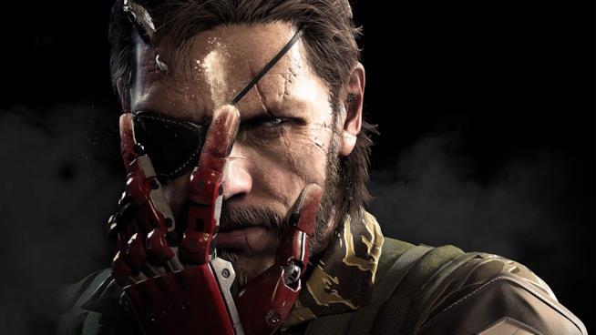 Un primo piano di Big Boss in un artwork ufficiale di Metal Gear Solid V