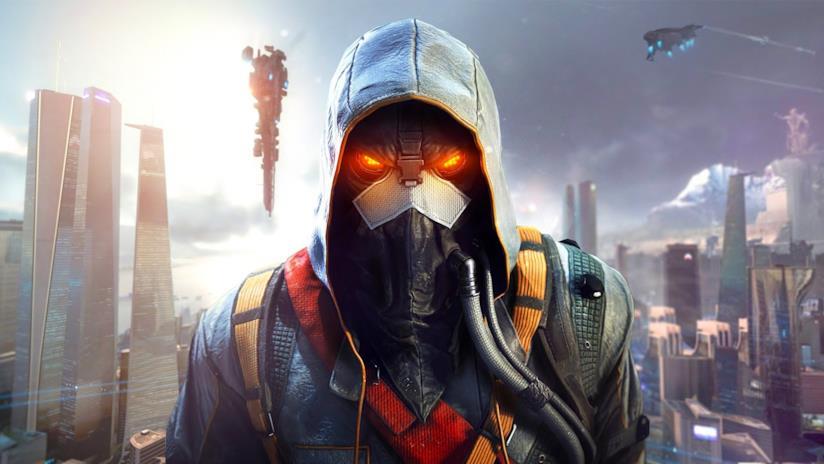 Primo piano su uno dei nemici di Killzone Shadow Fall