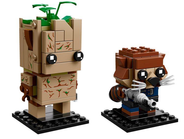 Dettagli del set LEGO BrickHeadz: Groot e Rocket Raccoon