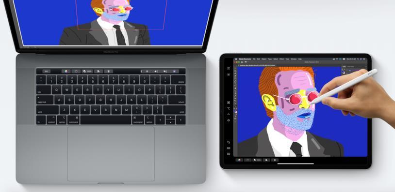 Immagine stampa della funzione SideCar di Apple