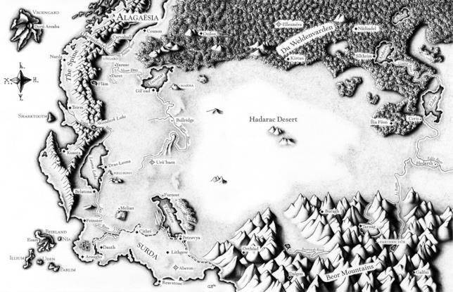 Immagine della mappa di Alagaesia