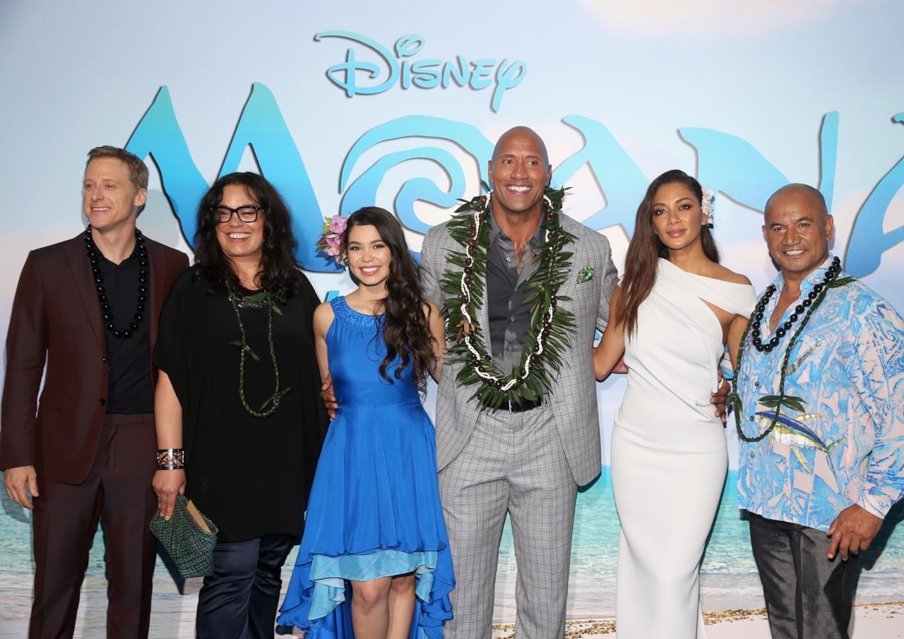 Il cast del film Disney Oceania