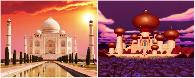 Il palazzo di Aladdin è ispirato a un palazzo in India
