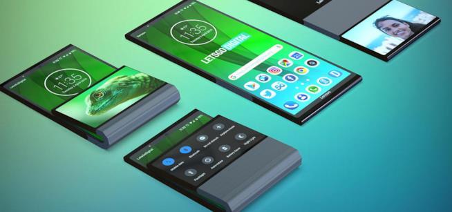 Il concept dello smartphone pieghevole di Lenovo realizzato da Let's Go Digital