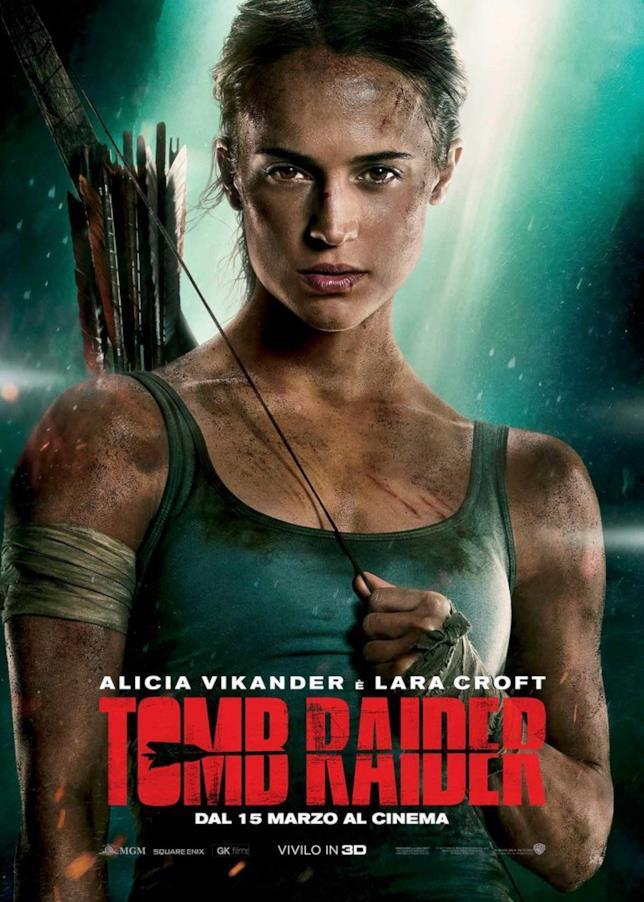 Alicia Vikander nel poster italiano ufficiale di Tomb Raider