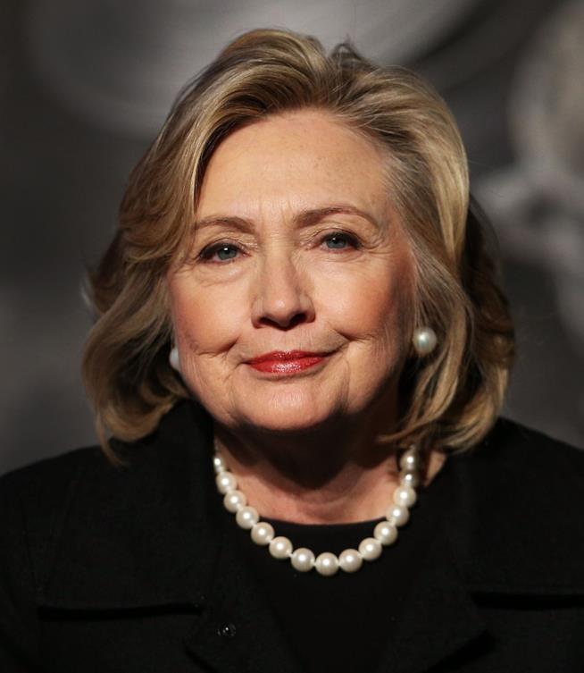 Hillary Clinton in primo piano