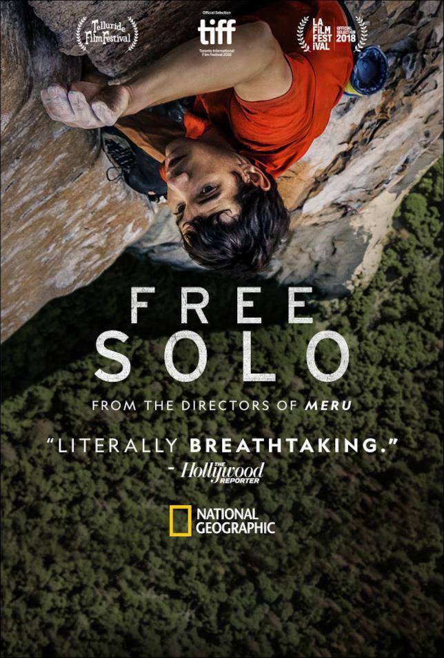 Il suggestivo poster di Free Solo