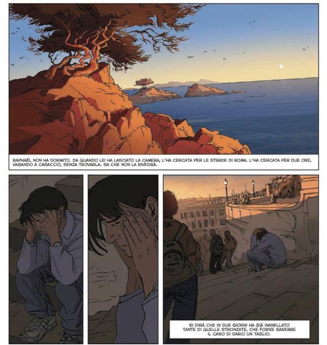 Tavola del fumetto Una Notte a Roma
