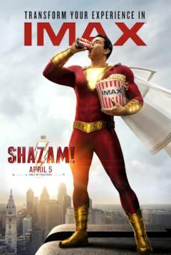 Shazam! coi popcon dei cinema IMAX
