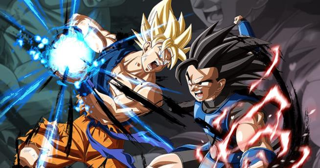 A sinistra Goku, a destra il nuovo guerriero Saiyan Shallot