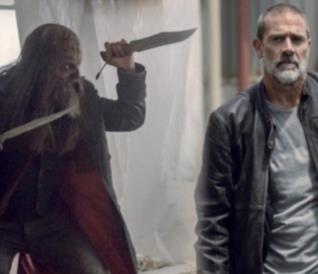 Beta e Negan in The Walking Dead