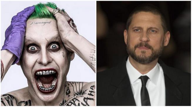 Un collage tra David Ayer e il Joker interpretato da Jared Leto