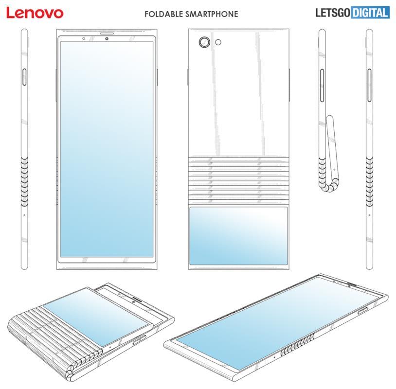 Lo smartphone pieghevole di Lenovo illustrato da Let's Go Digital