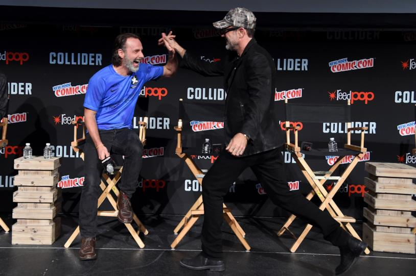 Andrew Lincoln con Jeffrey Dean Morgan