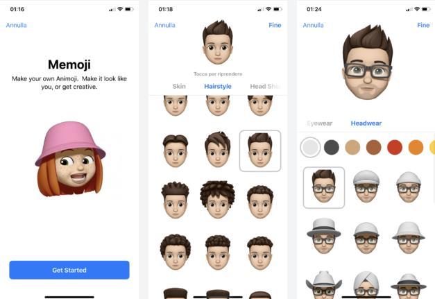 Dettaglio sulle nuove Animoji per iOS 12