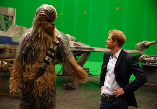 Chewbecca e il principe Harry