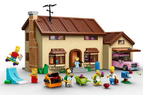 La casa dei Simpson ricreata dal marchio Lego