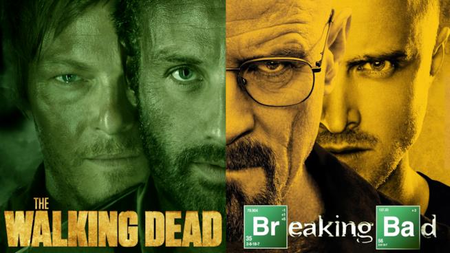 Un'immagine riunisce i protagonisti di The Walking Dead e Breaking Bad