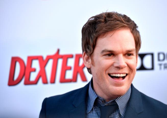 Michael C. Hall sorride alla premiere dell'ottava stagione di Dexter