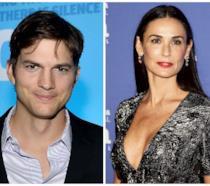 Ashton Kutcher e l'ex moglie Demi Moore
