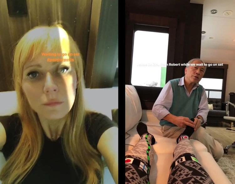 Gwyneth Paltrow sul set di Avengers 4