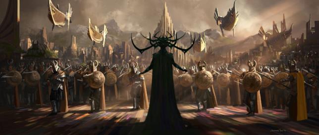 Hela invade Asgard in Thor: Ragnarok
