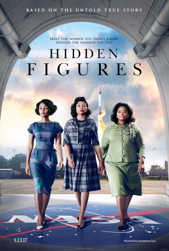 Il poster del film Il Diritto di Contare (Hidden Figures)