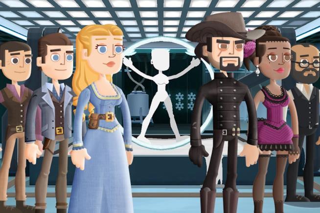 Un concept art del gioco di Westworld