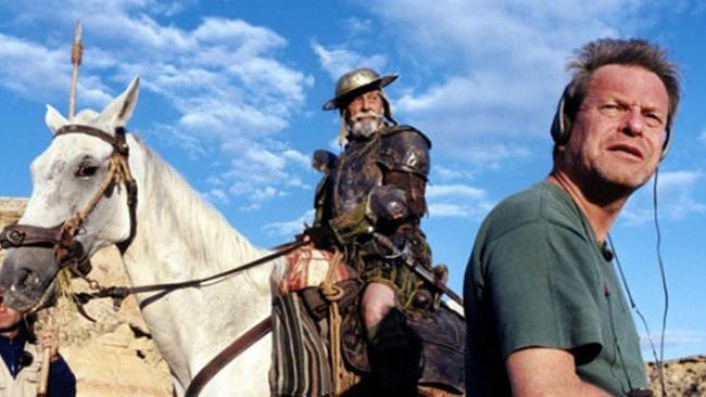 Terry Gilliam sul set di Don Chisciotte