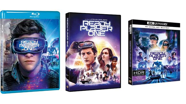 Packshot di Ready Player One in DVD, Blu-ray e Blu-ray 4K