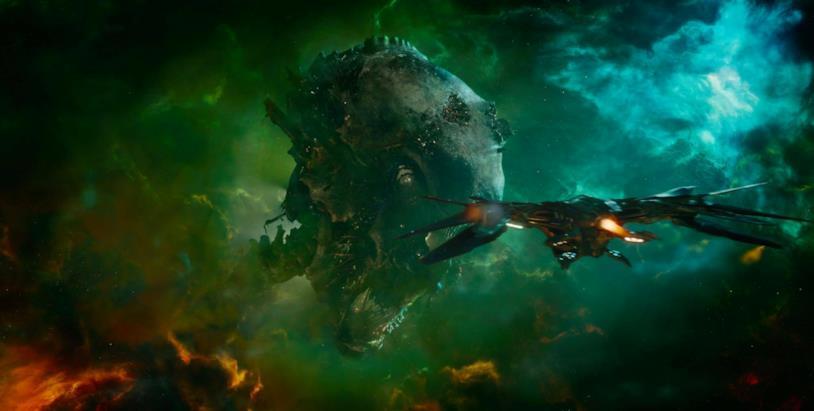 La testa di un Celestiale ospita Ovunque, luogo in cui si svolge parte di Guardiani della Galassia