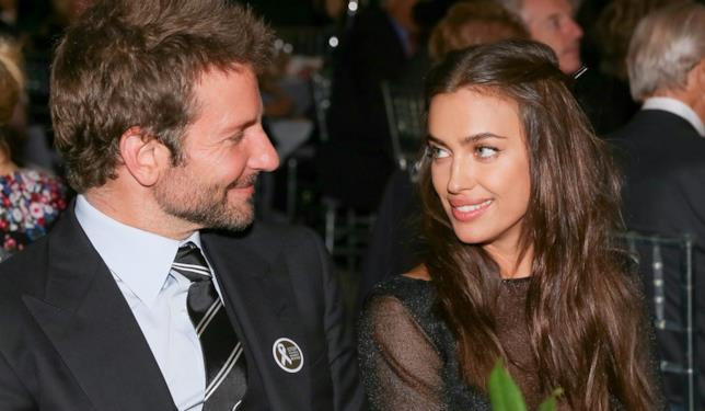 Primo piano di Bradley Cooper e Irina Shayk
