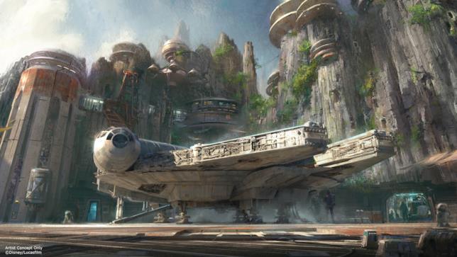 Il Millennium Falcon in Star Wars Land