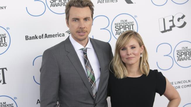 Kristen Bell e il marito Dax Shepard ai Film Independent Spirit Awards