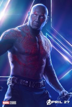Il poster del personaggio di Drax