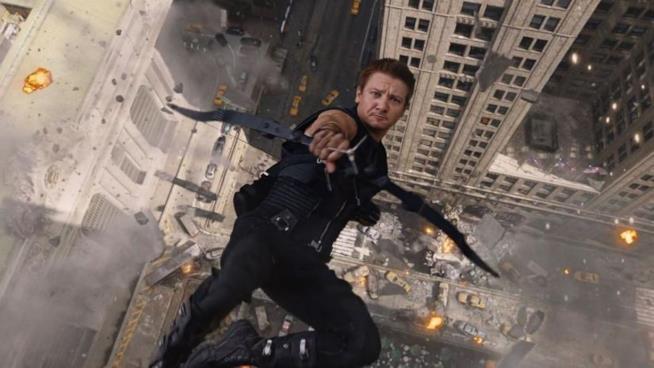 Occhio di Falco in una immagine del film The Avengers