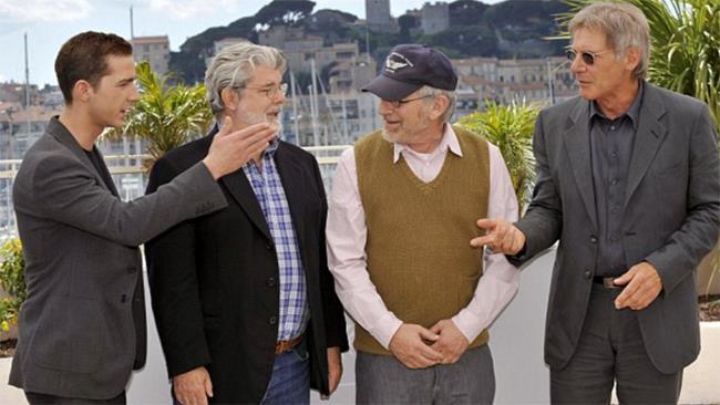 Shia LaBeouf e Steven Spielberg a Cannes