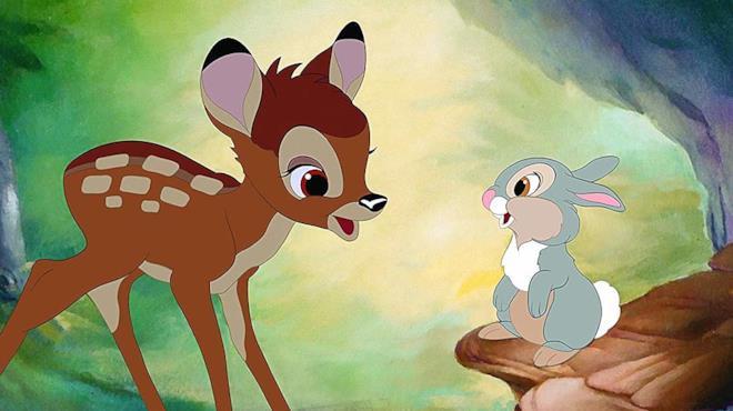 Un'immagine dal film di Bambi