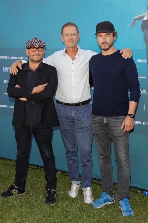 Rocco Siffredi e i registi Thierry Demaiziere e Alban Teurlai a Venezia 73
