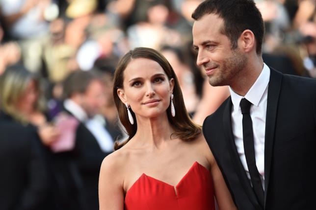 Primo piano di Natalie Portman e Benjamin Millepied
