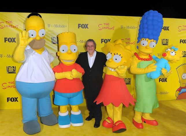 Matt Groening insieme ai Simpson