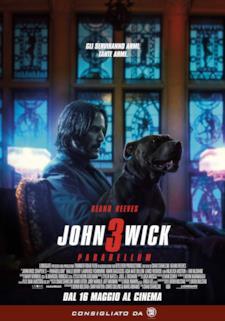 Poster italiano di John Wick 3 con Wick e il suo cane